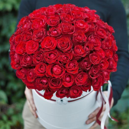 Красная Роза в Большой коробке