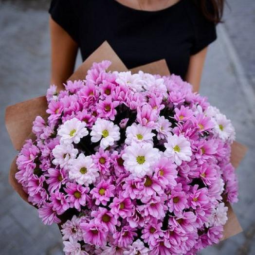 """Букет """"Нежное облако из хризантем"""": букеты цветов на заказ Flowwow"""