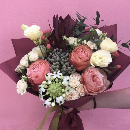 Букет « Бордо»: букеты цветов на заказ Flowwow