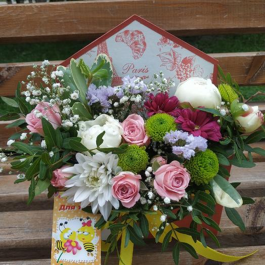 Признание в конверте: букеты цветов на заказ Flowwow
