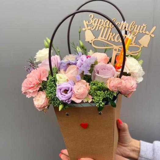 Здравствуй школа 💕: букеты цветов на заказ Flowwow