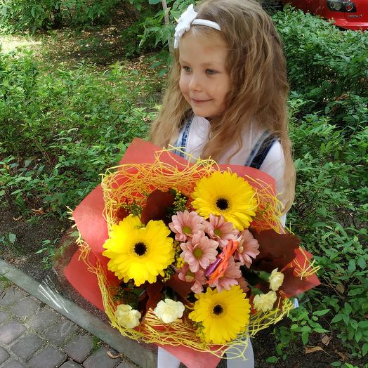 "Букет ""Привет,школа"": букеты цветов на заказ Flowwow"