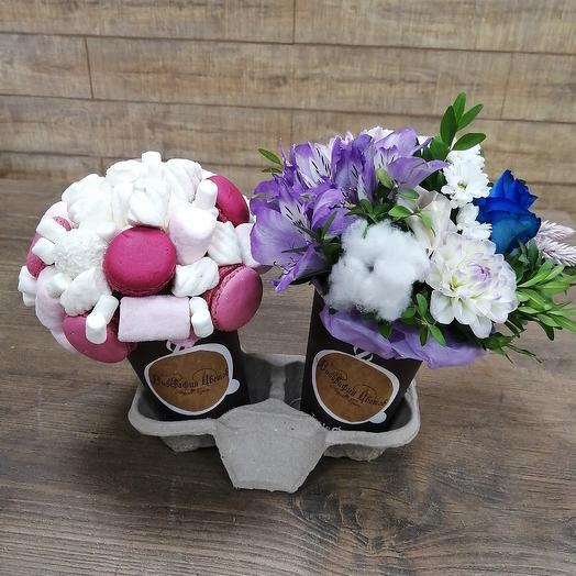 Кофейная композиция без кофе: букеты цветов на заказ Flowwow