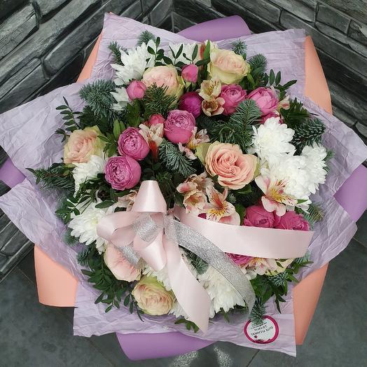 """Букет """"Январское утро"""": букеты цветов на заказ Flowwow"""