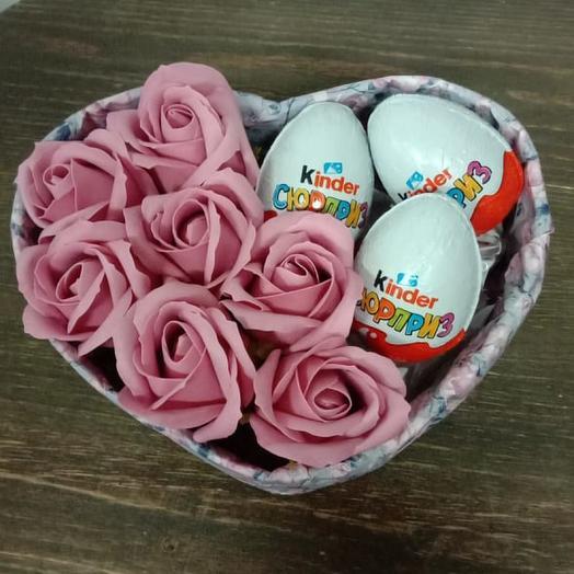 Валентинка из мыльных роз 2