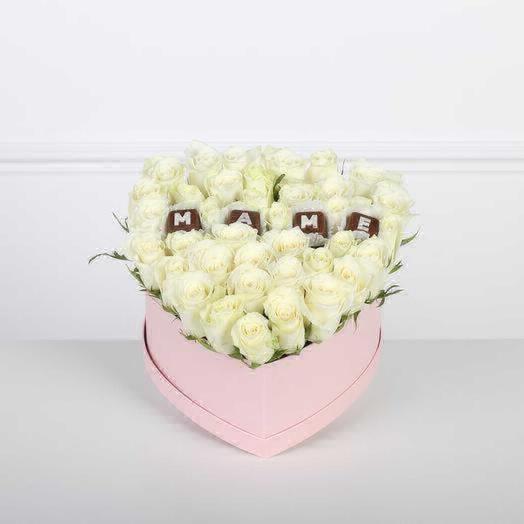 Самое родное сердце: букеты цветов на заказ Flowwow