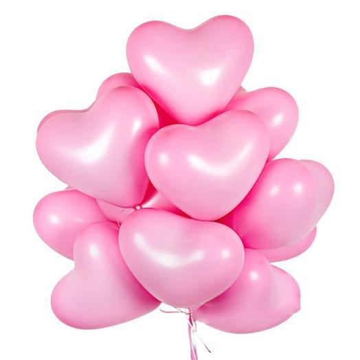 9 гелиевых шариков в форме сердца