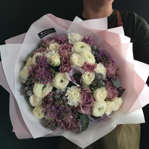 Букет дня с сиренью: букеты цветов на заказ Flowwow