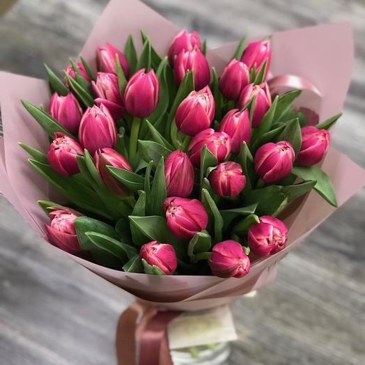 Букет Пионовидных тюльпанов 25 шт