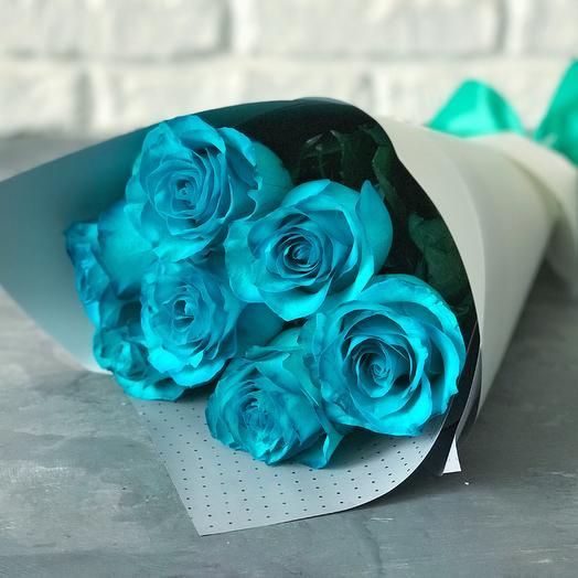 7 роз аквамарин