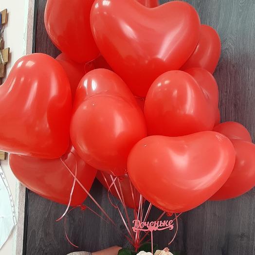 Шары сердце 15шт: букеты цветов на заказ Flowwow