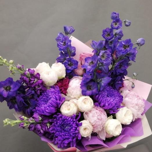 Букет из пионовидной розы: букеты цветов на заказ Flowwow