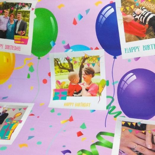 """Фотоплед на заказ """"Happy Birthday"""": букеты цветов на заказ Flowwow"""
