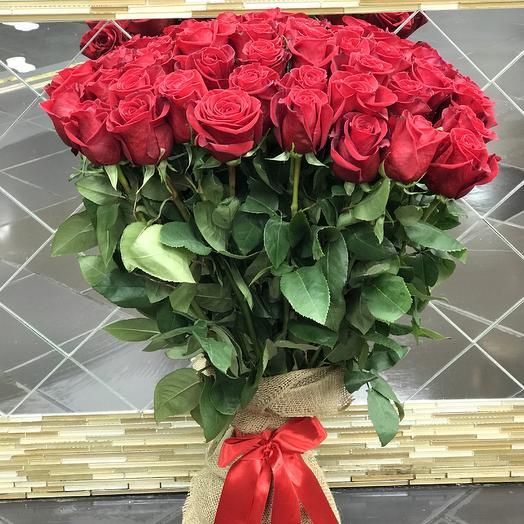 Роза 51шт 80 см