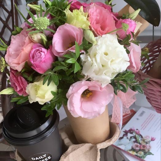 Цветочный набор Цветы+Кофе