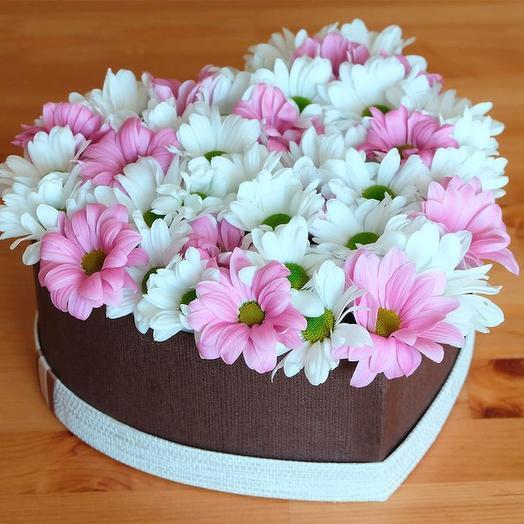 Цветы в коробке Ромашка