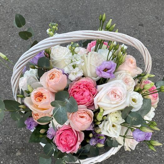 Стильная Корзина с цветами премиум класса