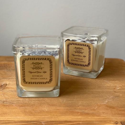 Декоративная свеча в стекле 1 шт
