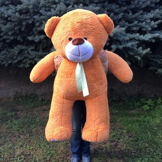 Плюшевий ведмедик 160 см карамельний