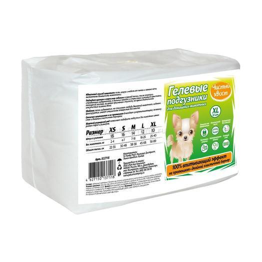 Чистый хвост Подгузники для собак от 16 до 25 кг 12 шт