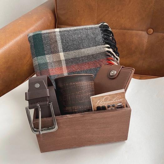 Мужской набор в крафтовой коробке