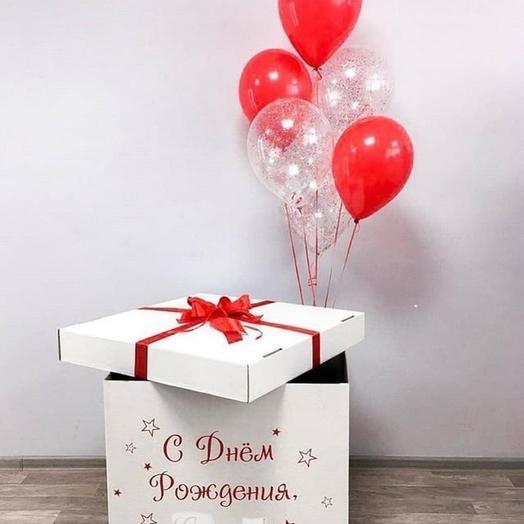 Коробка сюрприз с шарам