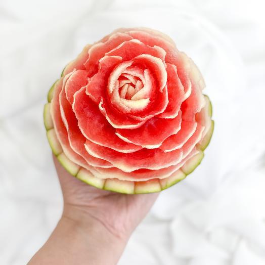 Роза из АРБУЗА (ручная работа)