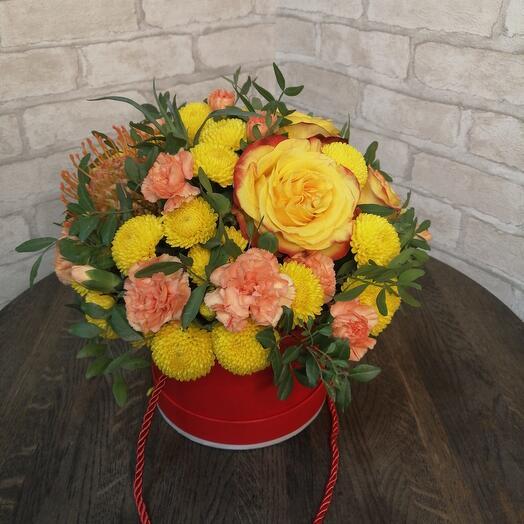 Цветы в коробке,, Лимончелло