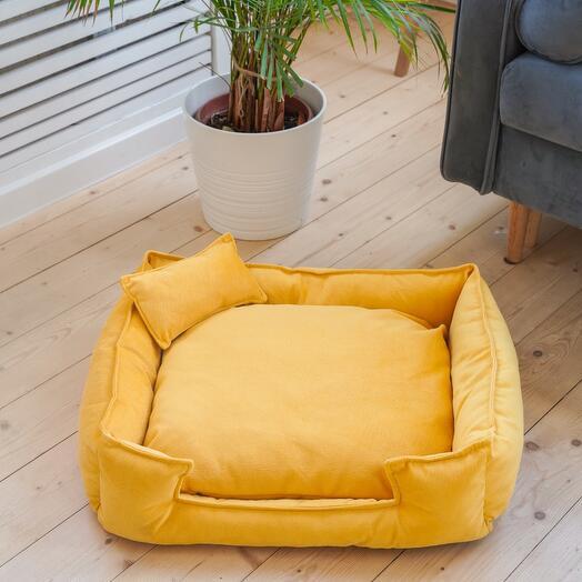 Лежанка premium yellow