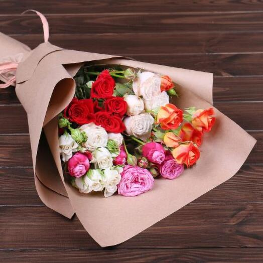 Микс из кустовых роз