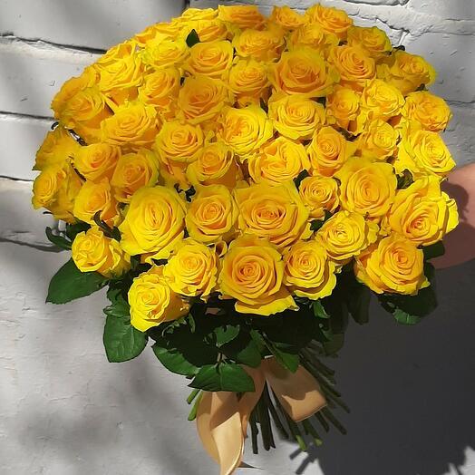 55 желтых роз