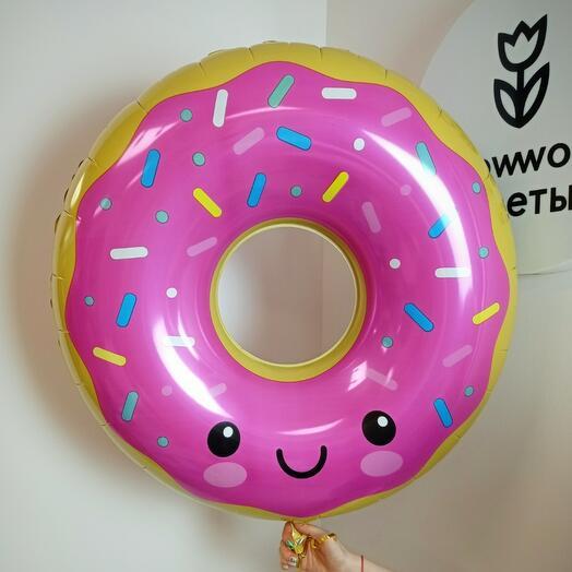 """Воздушный шар """"Пончик в розовой глазури"""""""