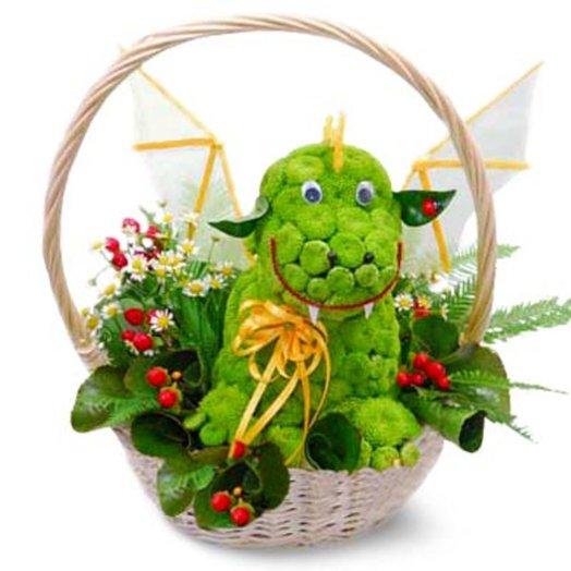 Композиция Дракоша: букеты цветов на заказ Flowwow