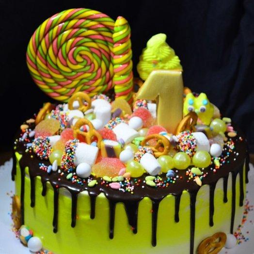 Торт вишнево-шоколадный торт: букеты цветов на заказ Flowwow