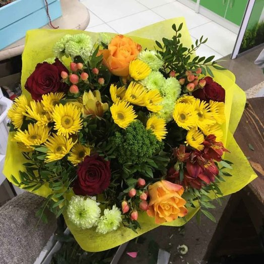 Букет Яркое поздравление Код 160260: букеты цветов на заказ Flowwow