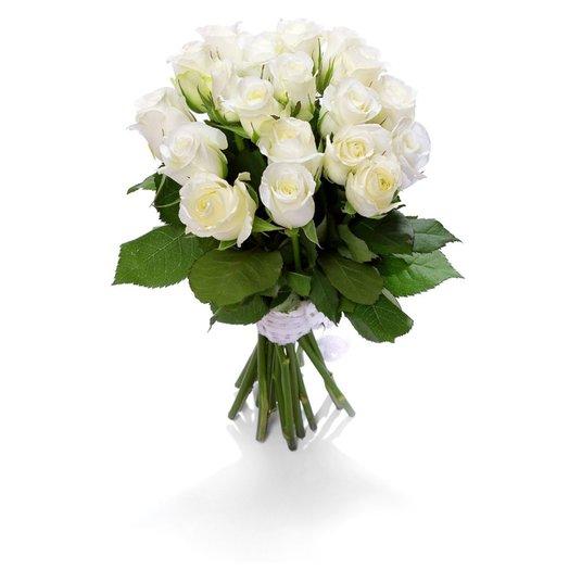Букет из 21 белой розы: букеты цветов на заказ Flowwow