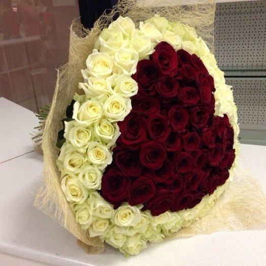 Букет любящее сердце: букеты цветов на заказ Flowwow