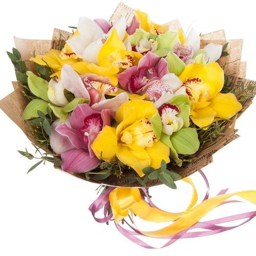 Букет из орхидей Пряный восток: букеты цветов на заказ Flowwow