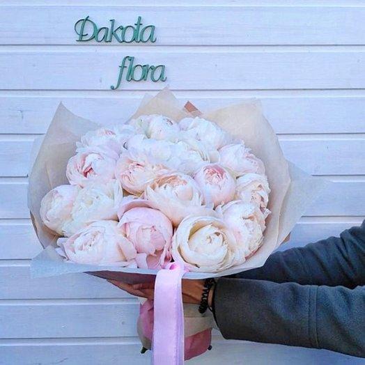 Букет пионов сорта Мазачойси: букеты цветов на заказ Flowwow