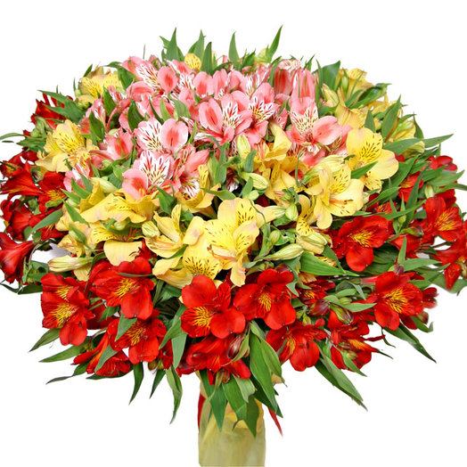 Микс из альстромерий: букеты цветов на заказ Flowwow