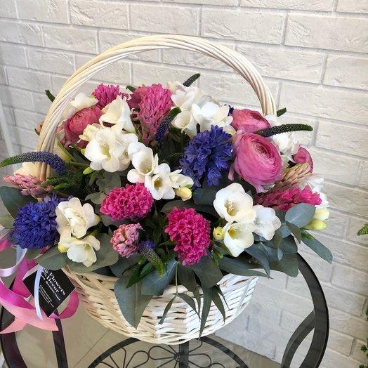 Ароматная корзинка: букеты цветов на заказ Flowwow