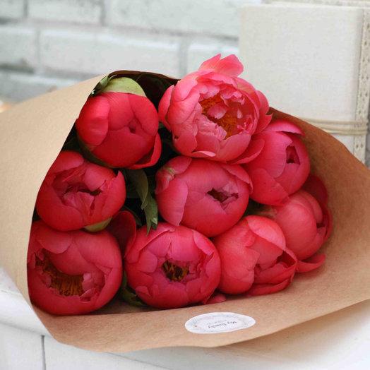 Коралловый сет 9: букеты цветов на заказ Flowwow