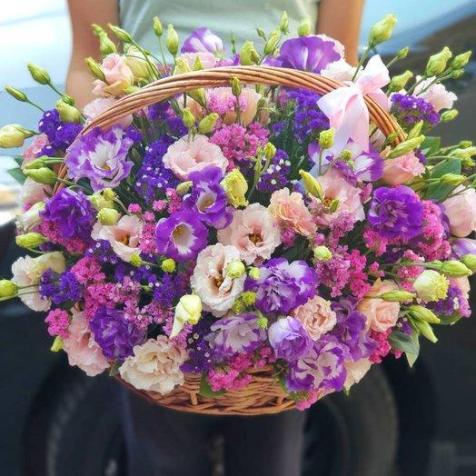 Корзина эустом: букеты цветов на заказ Flowwow