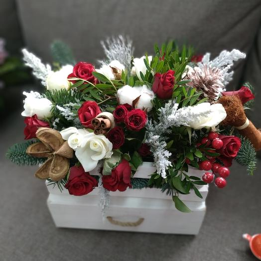 A gift from Santa Claus: flowers to order Flowwow