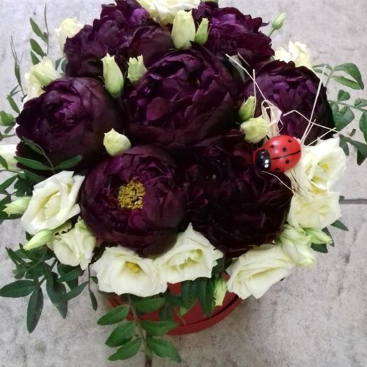 Коробка  Пионы: букеты цветов на заказ Flowwow