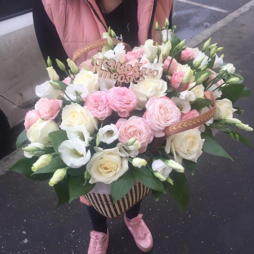 Корзина микс: букеты цветов на заказ Flowwow