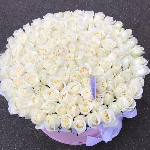 Коробка гигант с розами: букеты цветов на заказ Flowwow