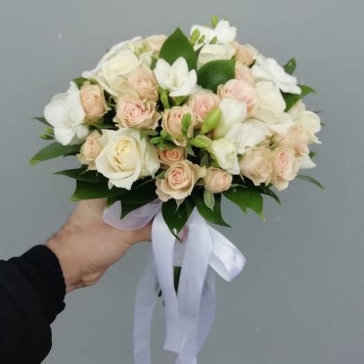 Свадебный 3: букеты цветов на заказ Flowwow
