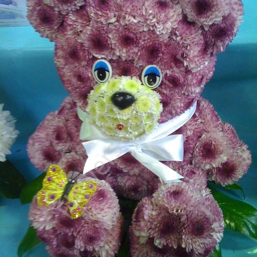 Мишка косолапый: букеты цветов на заказ Flowwow