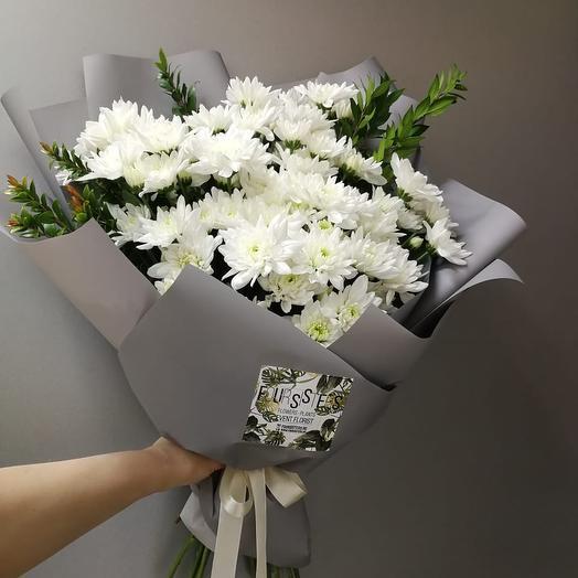 Большой букет с хризантемой: букеты цветов на заказ Flowwow
